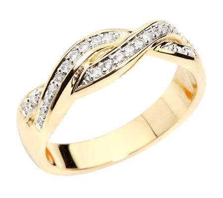 FIRST DIAMOND 25 Brillanten zus.ca.0,15ct. Ring Gold 375