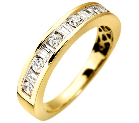 16 Diamanten zus.ca.0,50ct. Weiß/P1 Halb-Eternity-Ring Gold 585