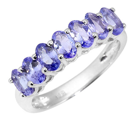 Lavendel Tansanit oval facettiert 1,50ct. Riviere-Ring Silber 925