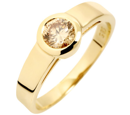 1 Brillant ca.0,45ct. naturfarben Solitär-Ring Gold 585