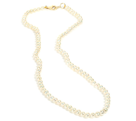Süßwasserperlen 4-4,5mm Collier Basic Gold 375
