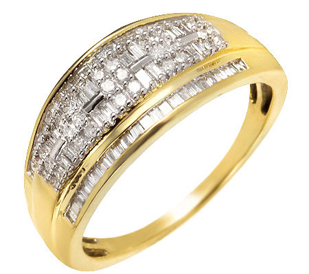GLAMOUR DIAMONDS 92 Diamanten zus.ca.0,50ct. Cocktail-Ring Gold 585