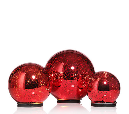 Lumida xmas glas deko kugeln spiegeleffekt in outdoorgeeignet 3 tlg page 1 - Weihnachtsdeko kugeln beleuchtet ...