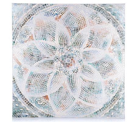 abella arte kunstvolle dekoration mandala mosaik optik ca. Black Bedroom Furniture Sets. Home Design Ideas