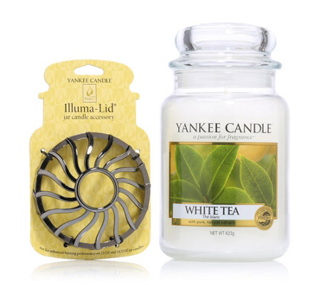 yankee candle duftkerze white tea brenndauer 110 150h inkl illuma lid page 1. Black Bedroom Furniture Sets. Home Design Ideas
