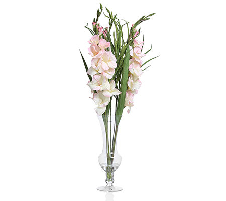 peony kunstblumen gladiolenstrau glas vase h he ca 91cm page 1. Black Bedroom Furniture Sets. Home Design Ideas