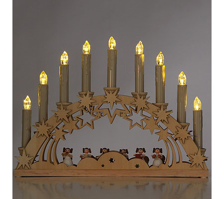 lumida xmas schwibbogen mit 9 kerzen timer fernbedienung page 1. Black Bedroom Furniture Sets. Home Design Ideas