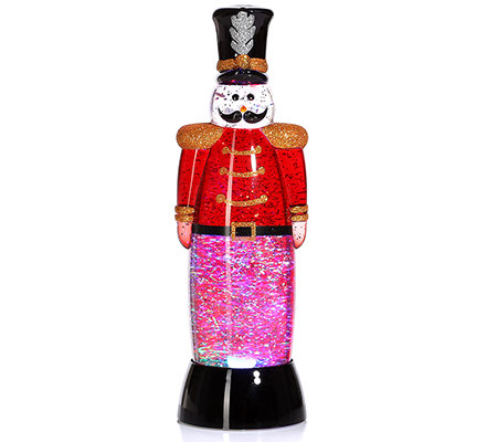 LUMIDA Xmas Nussknacker-Optik Glitzerwasser Timerfunktion H. ca.28cm