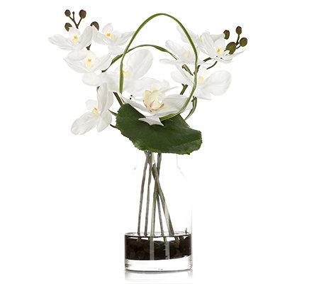 abella flora kunstvolle blumen orchidee in vase inkl steine h ca 31cm page 1. Black Bedroom Furniture Sets. Home Design Ideas
