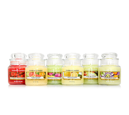 YANKEE CANDLE Duftkerzen-Set Cocktail Collection Brenndauer 25-40h je ca. 104g, 6-tlg.