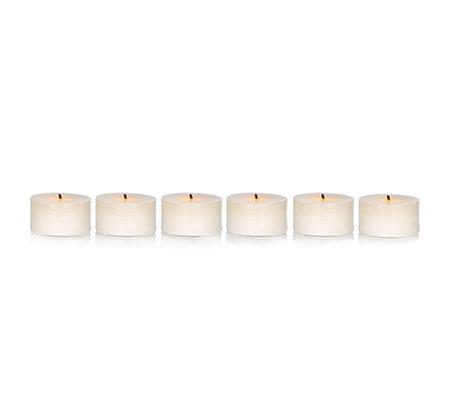 elambia flammenlose teelichter glimmdocht timer 6 st ck page 1. Black Bedroom Furniture Sets. Home Design Ideas