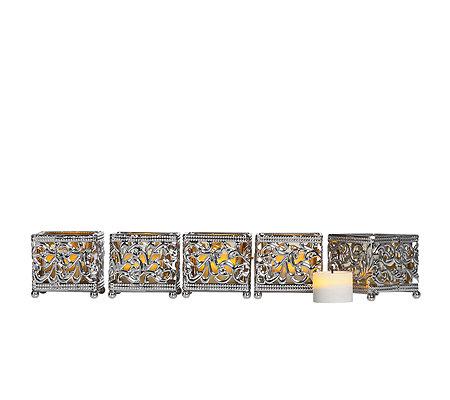 elambia flammenlose teelichter glas metall halter timerfkt 10 tlg page 1. Black Bedroom Furniture Sets. Home Design Ideas