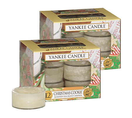 YANKEE CANDLE Teelichter-Set Christmas Cookie je ca. 4-6h 24 Stück