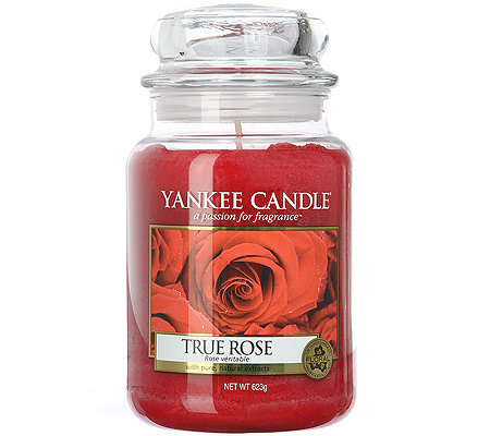 YANKEE CANDLE Duftkerze im Glas True Rose 100-150 Std. 623g