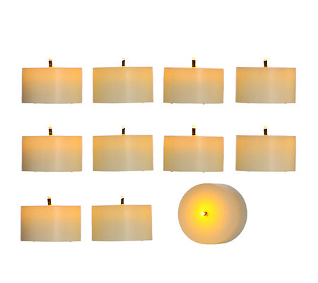 elambia flammenlose echtwachs teelichter glimmdocht timer 10 st ck page 1. Black Bedroom Furniture Sets. Home Design Ideas