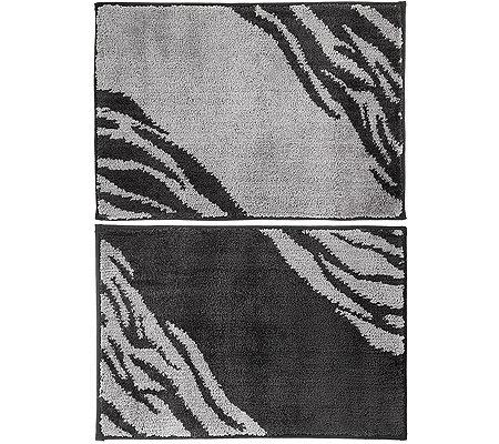 casa fondo mikrofaser 2 fu matten zweifarbig ca 45x65cm. Black Bedroom Furniture Sets. Home Design Ideas