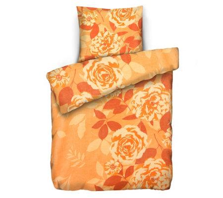 badizio classic mf pl schtrikot bettw sche bl ten bl tter einzelbett 2tlg. Black Bedroom Furniture Sets. Home Design Ideas
