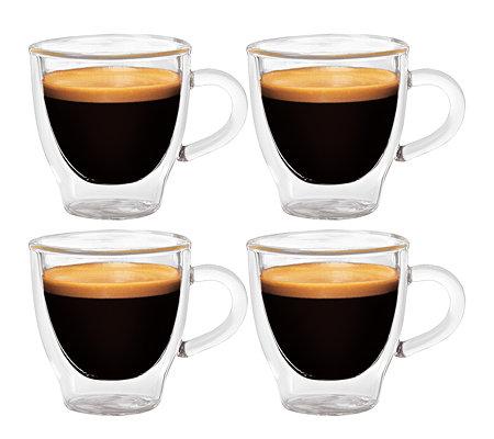 tchibo espresso gl ser set doppelwandig 4 st ck. Black Bedroom Furniture Sets. Home Design Ideas