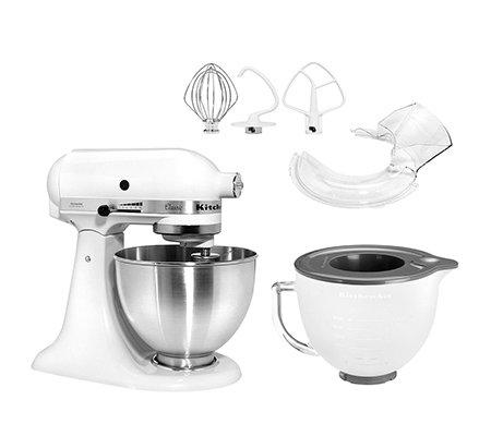 kitchenaid küchenmaschine 275w inkl. milchglasschüssel & spritzschutz