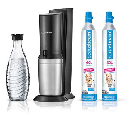 sodastream wassersprudler crystal 2 0 inkl glaskaraffe 2 zylinder page 1. Black Bedroom Furniture Sets. Home Design Ideas