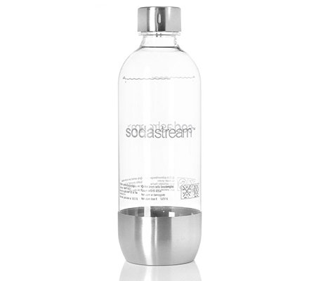 sodastream pet flasche mit edelstahl 1l volumen 1 st ck. Black Bedroom Furniture Sets. Home Design Ideas