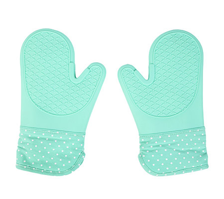 BAKING BOUTIQUE Silikon- Ofenhandschuhe Polka-Dot-Design 2tlg.