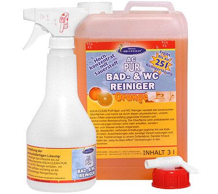 AQUA CLEAN PUR Bad U0026 WC Reiniger Mit Aktivsauerstoff Hochkonzentrat 3000ml