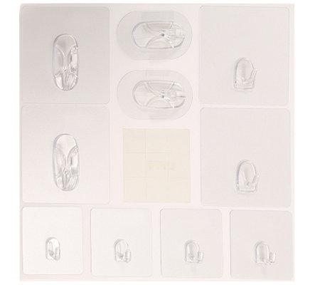 magische haken inkl 2x super strong univ einsetzbar wiederverwendbar 10tlg page 1. Black Bedroom Furniture Sets. Home Design Ideas
