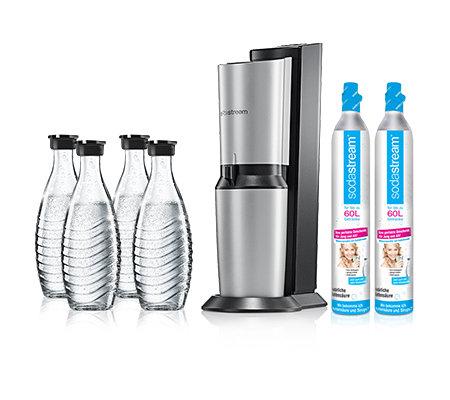 sodastream wassersprudler crystal 4 glaskaraffen 2 zylinder page 1. Black Bedroom Furniture Sets. Home Design Ideas