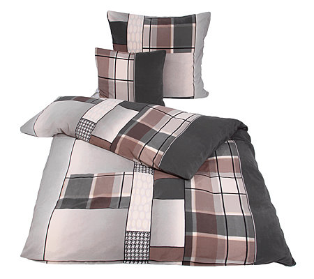 polarstern mf flanell fleece bettw sche karomix einzelbett. Black Bedroom Furniture Sets. Home Design Ideas