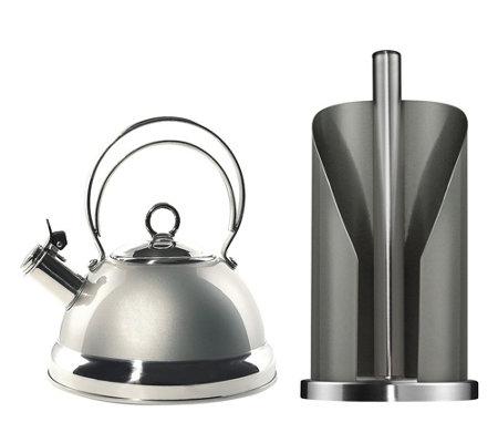 Rollenhalter Küche | Wesco Wasserkessel Inkl Kuchen Rollenhalter 2tlg Page 1 Qvc De