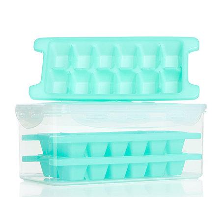 Locklock frischhaltedose 34l inkl 3 eiswurfelbereiter for Eiswürfelbereiter