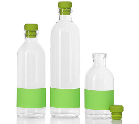 bondidou 3 glasflaschen verschluss silikon etikett. Black Bedroom Furniture Sets. Home Design Ideas