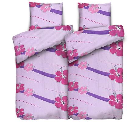 soft wave mf seersucker bettw sche hibiskuswelle doppelbett 4 tlg page 1. Black Bedroom Furniture Sets. Home Design Ideas
