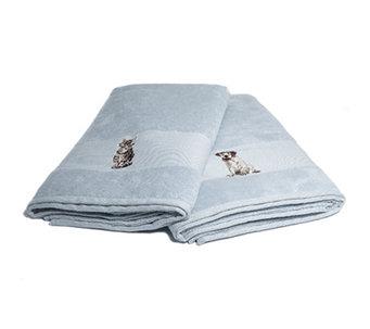 DUOTOUCH MF/Baumwolle 2 Duschtücher Tier Stickerei Ca.70x140cm   810961