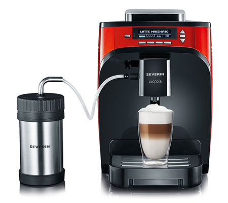 SEVERIN Piccola Premium Kaffeevollautomat One-Touch-Technologie inkl. Milchkühler