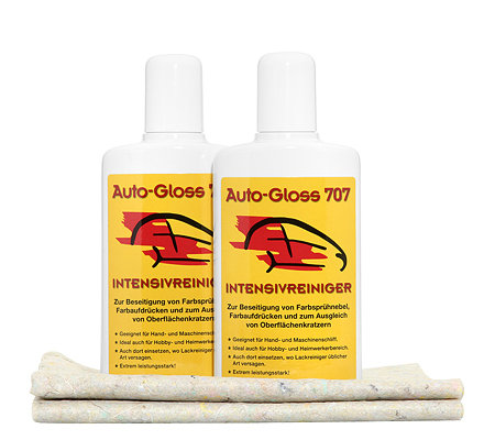 AUTO-GLOSS 707 Car Clean Intensivreiniger 2x 250ml Set 4tlg
