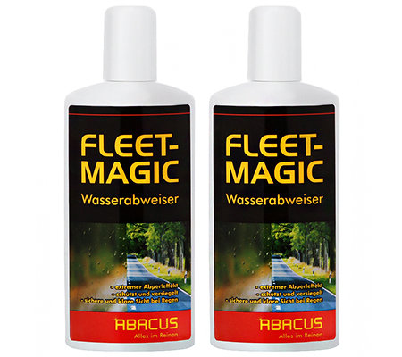 ABACUS Fleet-Magic klare Sicht bei Regen mit Abperleffekt 2x 250ml