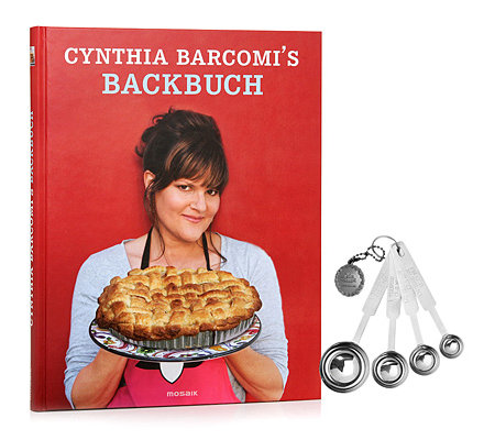 CYNTHIA BARCOMI Backbuch-Set 80 Rezepte & 4 Messlöffel 5tlg.
