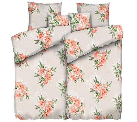 coravelle mf flausch bettw sche rosenbouquets doppelbett 6 tlg page 1. Black Bedroom Furniture Sets. Home Design Ideas