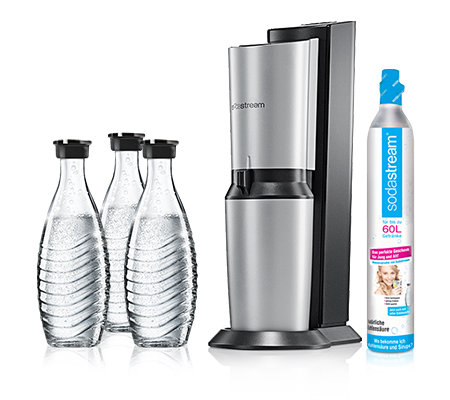 sodastream wassersprudler crystal 3 glaskaraffen 1 zylinder page 1. Black Bedroom Furniture Sets. Home Design Ideas