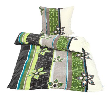 badizio mf pl schtrikot bettw sche retrobl ten einzelbett 2tlg page 1. Black Bedroom Furniture Sets. Home Design Ideas