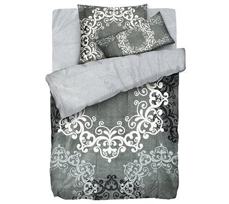 mont chalet mf chinchilla optik wendebettw sche ornament. Black Bedroom Furniture Sets. Home Design Ideas