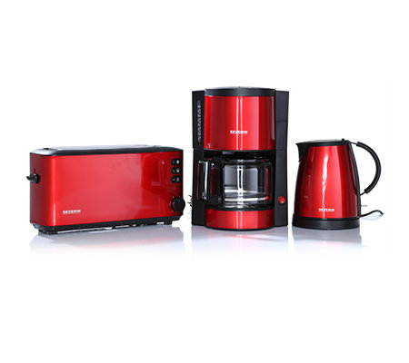 severin fr hst cks set glas kaffeemaschine toaster. Black Bedroom Furniture Sets. Home Design Ideas
