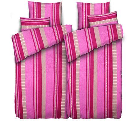 badizio mf pl schtrikot bettw sche streifen doppelbett 6 tlg page 1. Black Bedroom Furniture Sets. Home Design Ideas