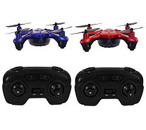 Hoverway 2 Pack Mini Drones w/ Extra Batteries , blades, and 2 Remote Controls - E229000