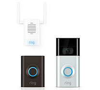 All-New Ring Video Doorbell 2 HD Monitoring w/ Chime Pro, & 3yr Warranty - E231300