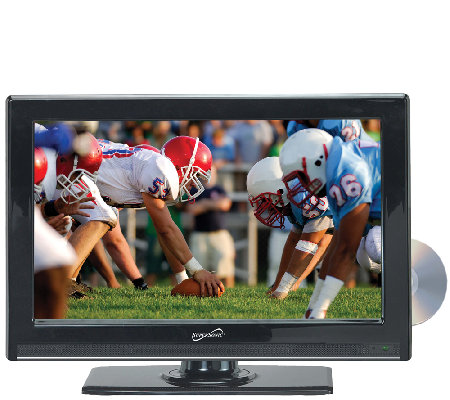 "SuperSonic 22"" Class WS LED HDTV with Built-inDVD Player"