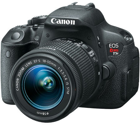 Canon EOS Rebel T5i DSLR Camera w/ EF-S 18-55mm Lens