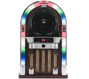Craig Bluetooth CD Jukebox Speaker with Color-Changing Lights - E285700